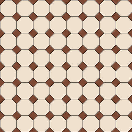 The vector seamless Hong Kong traditional vintage brown and beige  pattern style floor textured background