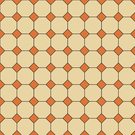 The vector seamless Hong Kong traditional vintage yellow and orange pattern style floor textured background