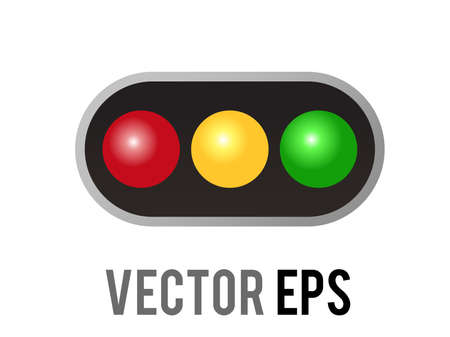 The isolated vector horizontal left and right road traffic caution light signal icon