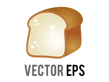 The isolated vector loaf of white or wheat bread icon, as before it is sliced for toast or sandwiches Çizim