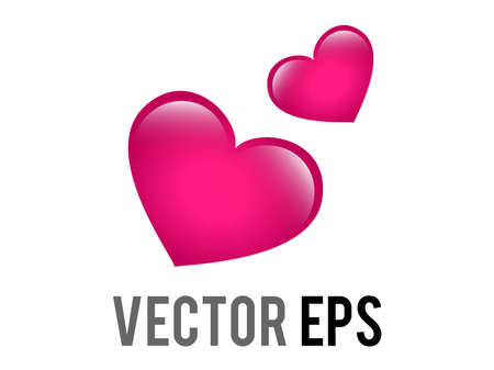 The isolated vector two revolving hearts switching places icon with circular line 矢量图像