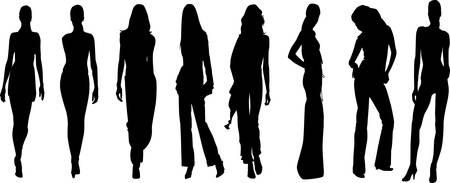 female model: Model Silhouettes