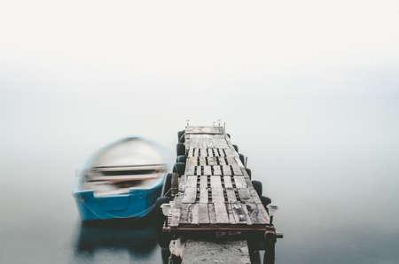 stillness: Cold stillness - winter lake scenery Stock Photo