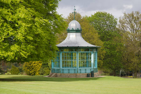 bandstand: Old bandstand in park, Sheffield, Yorkshire, UK.