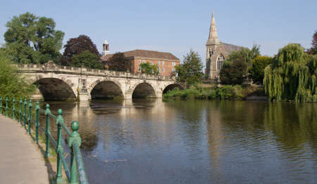 severn: Down by the river severn in Shrewsbury Stock Photo