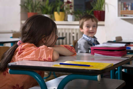 pedagogy: Life at school - first class - children learning