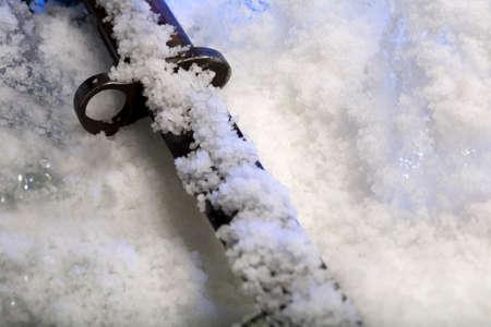 baionetta: Vecchia baionetta in ghiaccio Archivio Fotografico