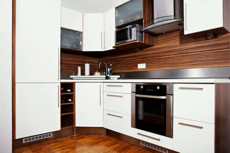 kitchen furniture: Modern interior and details in european apartment