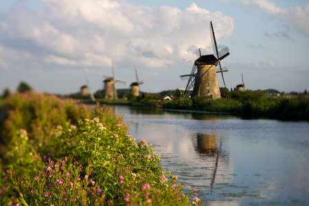 panoramas: Netherlands - country of beautiful panoramas, cities, villages, fields, meadows, wind mills, architecture and tourist attractions Stock Photo