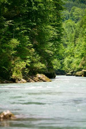 brave: Brave man rides down a wild river kayaking