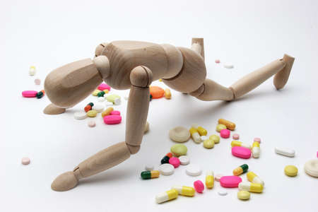 pharmaceutic: Drugs - hard life with drugs - illustration photo