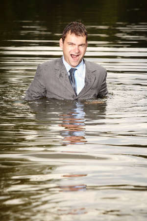psychic: Swimming in suit after psychic collapse