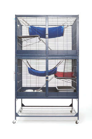 well equipped: Well equipped ferret home in two floor luxury cage