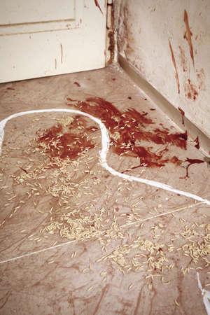 Fly larva on crime scene after victim pickup