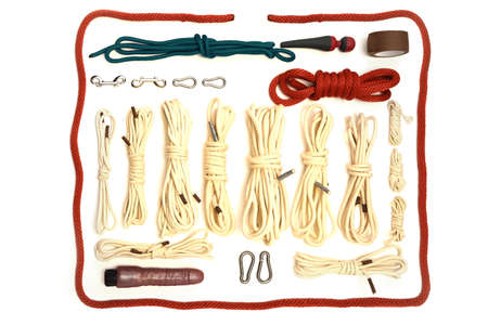 Set of ropes and toys used in BDSM sexual games