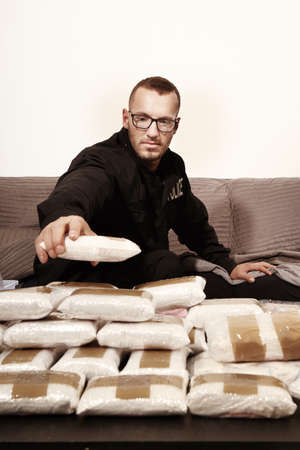 Lot of narcotics found in dealers hiding place and seized by police staff