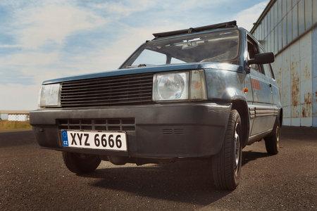 Older european oldtimer car on outdoor parking place Reklamní fotografie