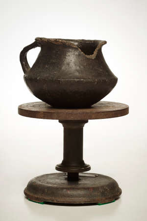 Probably preserved ancient urn of an urnfield culture in Europe