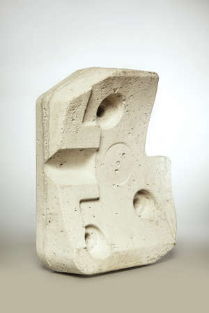 Isolated block of concrete weight unmounted from washing machine