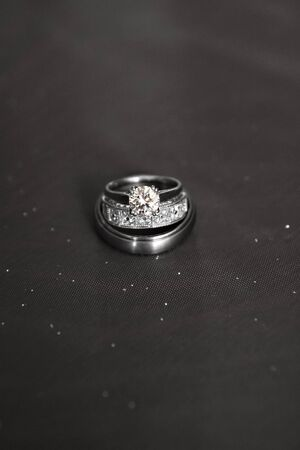 Wedding ring set Stock Photo