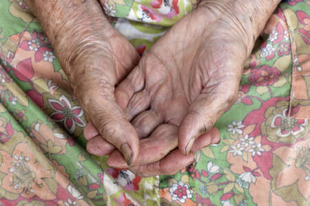 close-up of wrinkled hands of an old peasant woman from bohemia, czech republic Stock Photo - 5755622
