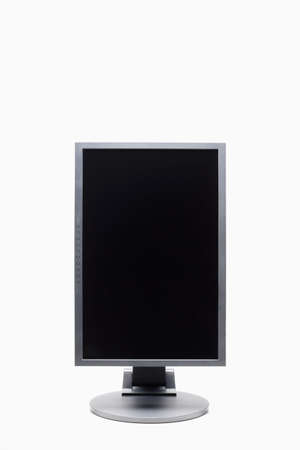 liquid crystal: Vista frontal del monitor de la computadora de lcd (cristal l�quido)