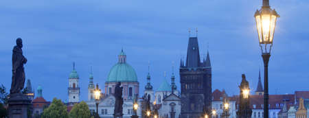 spires: view of spires of the old town from charles bridge