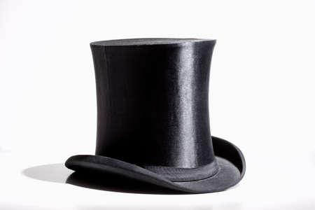Black Top Hat - Isolated on White Standard-Bild
