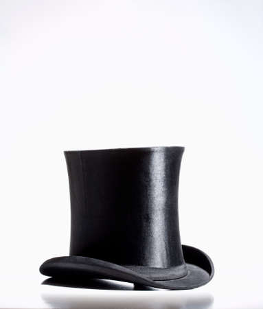 stovepipe hat: Black Top Hat  Stock Photo