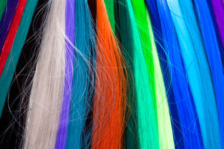 artificial hair: Artificial Hair Used for Production of Wigs and Extensions