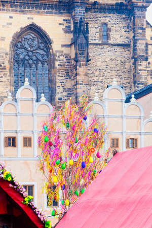 easter tree: Czech Republic, Prague - Easter Tree at the Old Town Square
