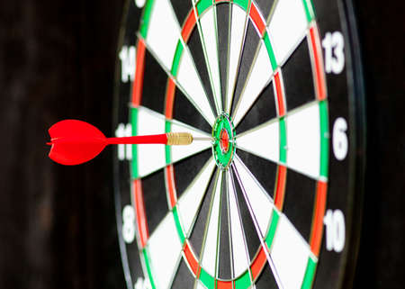 bulls eye: Red Dart in Bulls Eye Center of Board