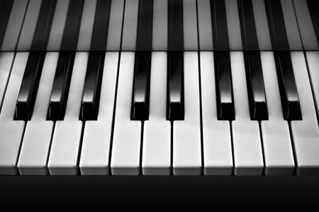 etude: Piano  Black and White