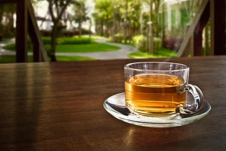 chinese tea cup: Tea at a terrace