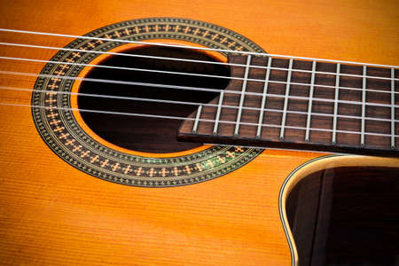 nylon string: Classical Cutaway Guitar  Stock Photo