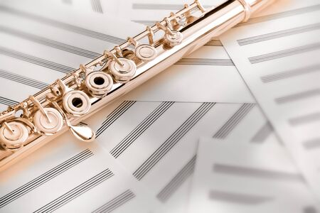 Flute/Upper Middle Joint/14 K Rose Gold Stock Photo - 9654240