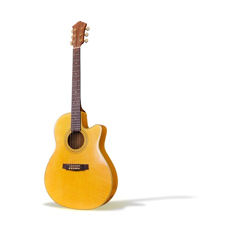 Acoustic GuitarIsolated  Stock Photo