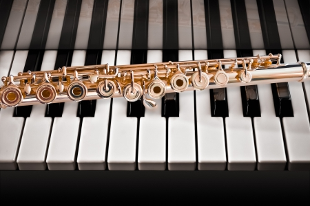 flute key: Flute on a Piano14 K Rose Gold