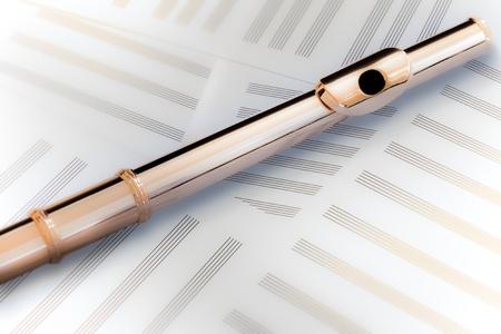 boehm flute: Flauta cabeza conjunta14 K Rose Gold