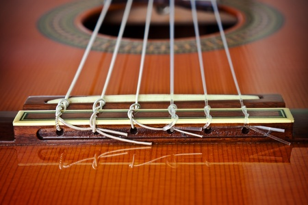 nylon string: Classical GuitarBridge