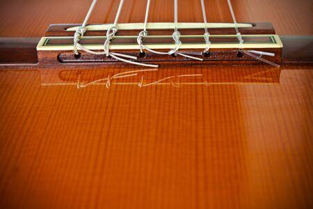 Classical Guitar/Bridge  Stock Photo - 9655500