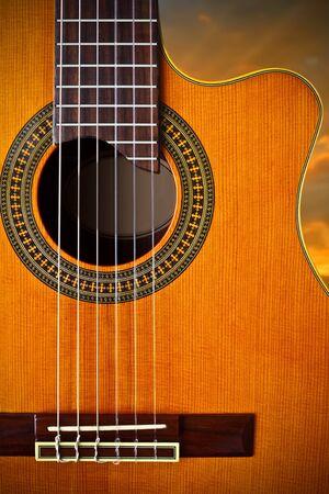 guitarra acustica: guitarra cl�sica  Foto de archivo