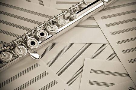 middle joint: Flauto  viraggio seppia
