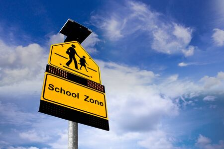 safety signs: School Zone