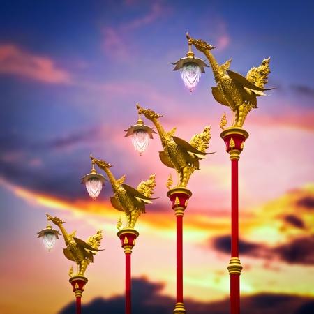 Golden Swan Post Lamp