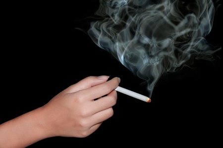 tahriş: Smoking KillsIsolated on Black