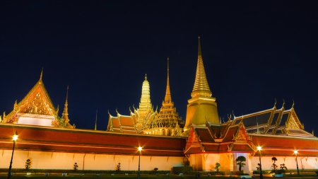 Night Scene of Wat Phra Kaew 写真素材