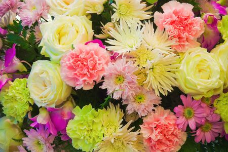 Bunch of Roses, Mums and Carnation Stock Photo - 13005372