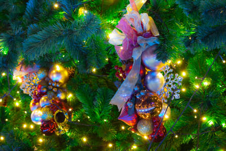 Ornaments on a Christmas Tree Stock Photo - 13005397