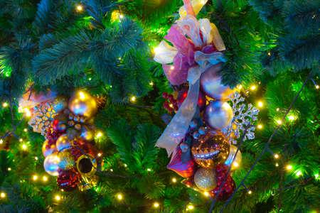 Ornaments on a Christmas Tree Stock Photo - 13005397